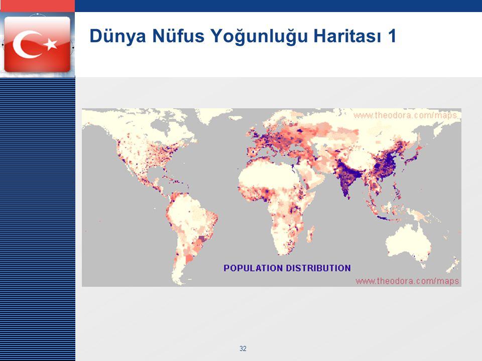 LOGO 32 Dünya Nüfus Yoğunluğu Haritası 1