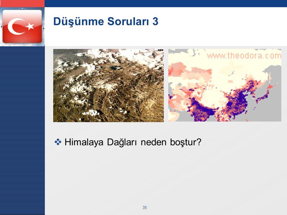 LOGO 35 Düşünme Soruları 3  Himalaya Dağları neden boştur?