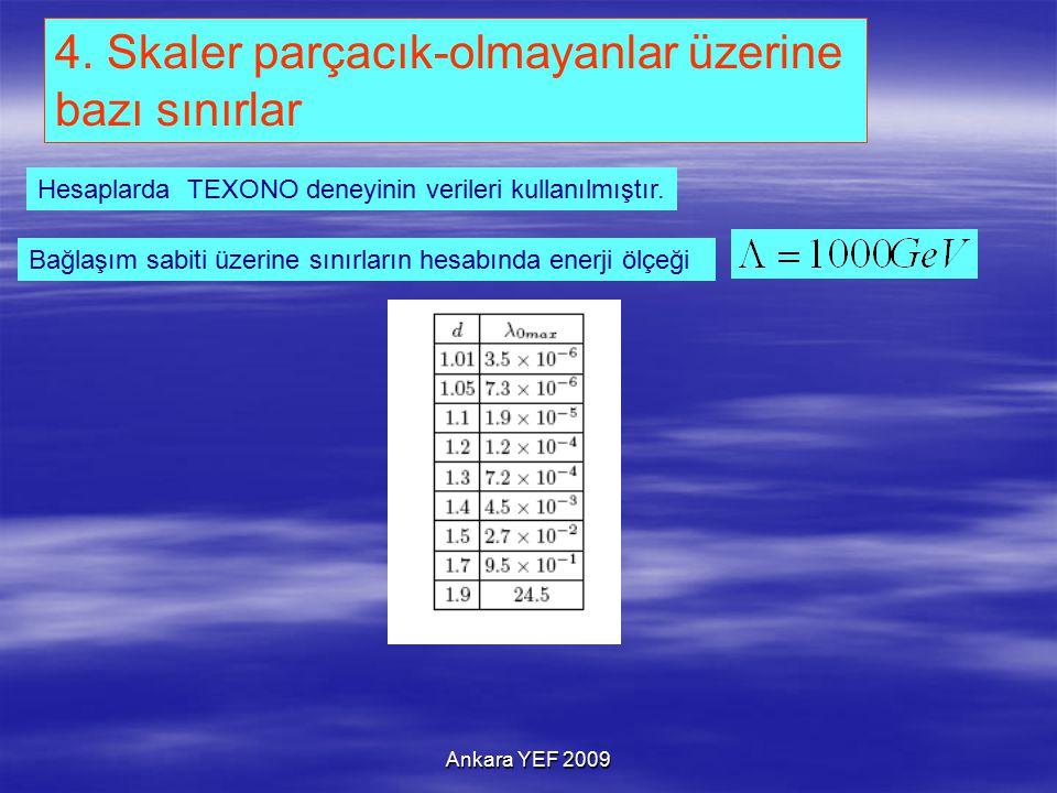 Ankara YEF 2009 Bağlaşım sabiti üzerine sınırların hesabında enerji ölçeği 4.