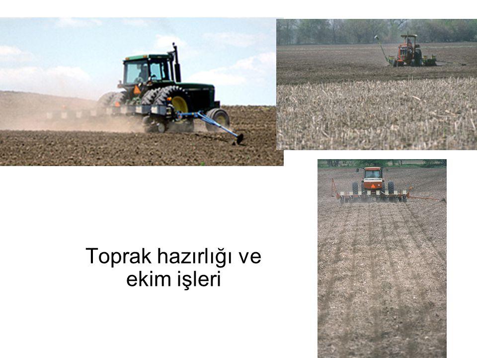 Toprak hazırlığı ve ekim işleri