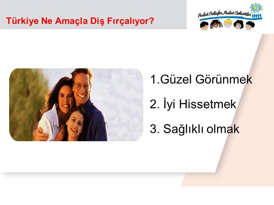 1.Güzel Görünmek 2. İyi Hissetmek 3. Sağlıklı olmak Türkiye Ne Amaçla Diş Fırçalıyor?