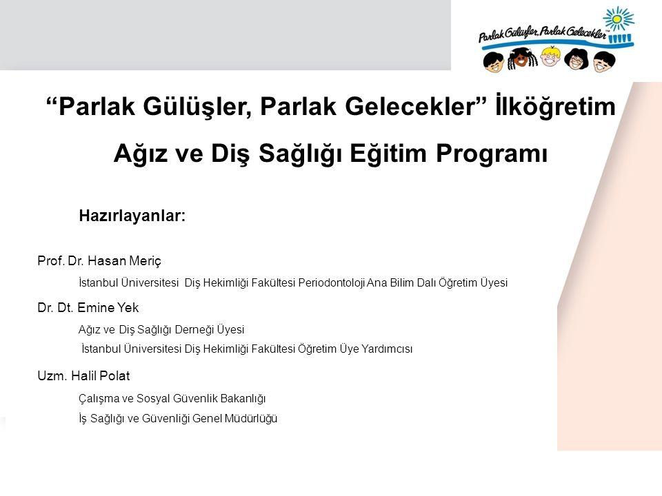 Parlak Gülüşler, Parlak Gelecekler İlköğretim Ağız ve Diş Sağlığı Eğitim Programı Hazırlayanlar: Prof.