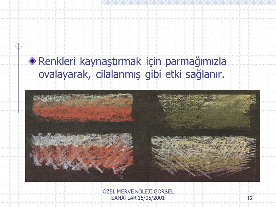 ÖZEL MERVE KOLEJİ GÖRSEL SANATLAR 15/05/200111 Pastel Nasıl Kullanılmalı.