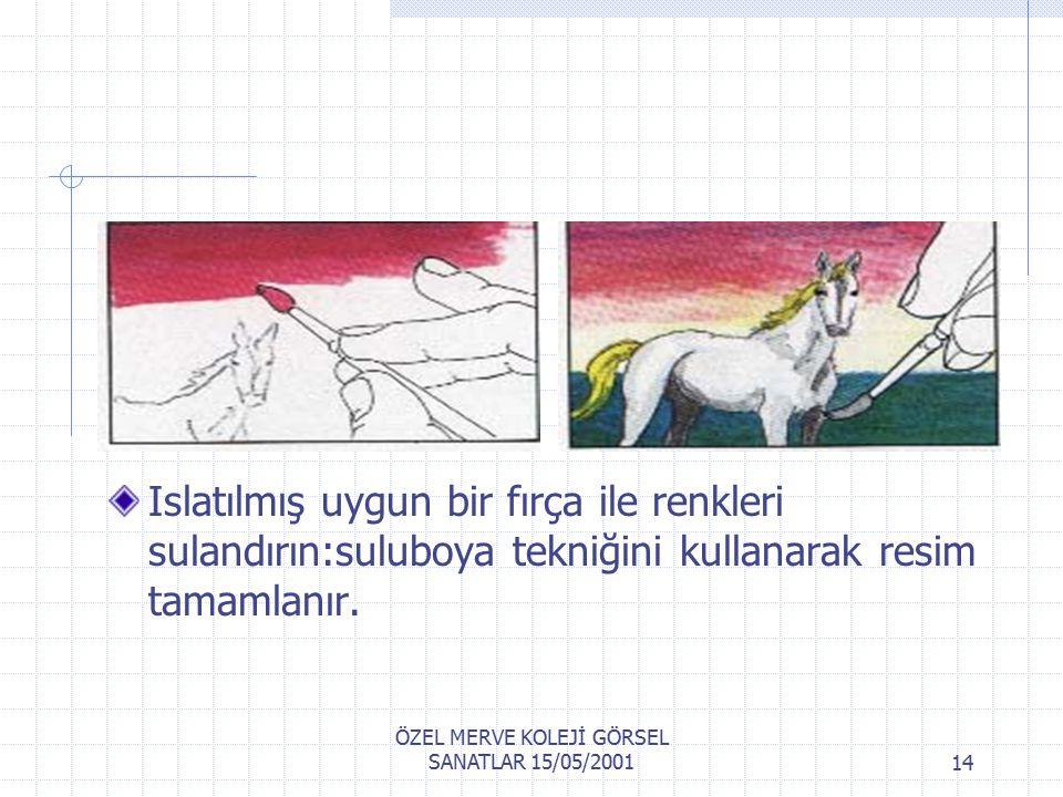 ÖZEL MERVE KOLEJİ GÖRSEL SANATLAR 15/05/200113 Bir çizim kağıdına pastel sürülür.