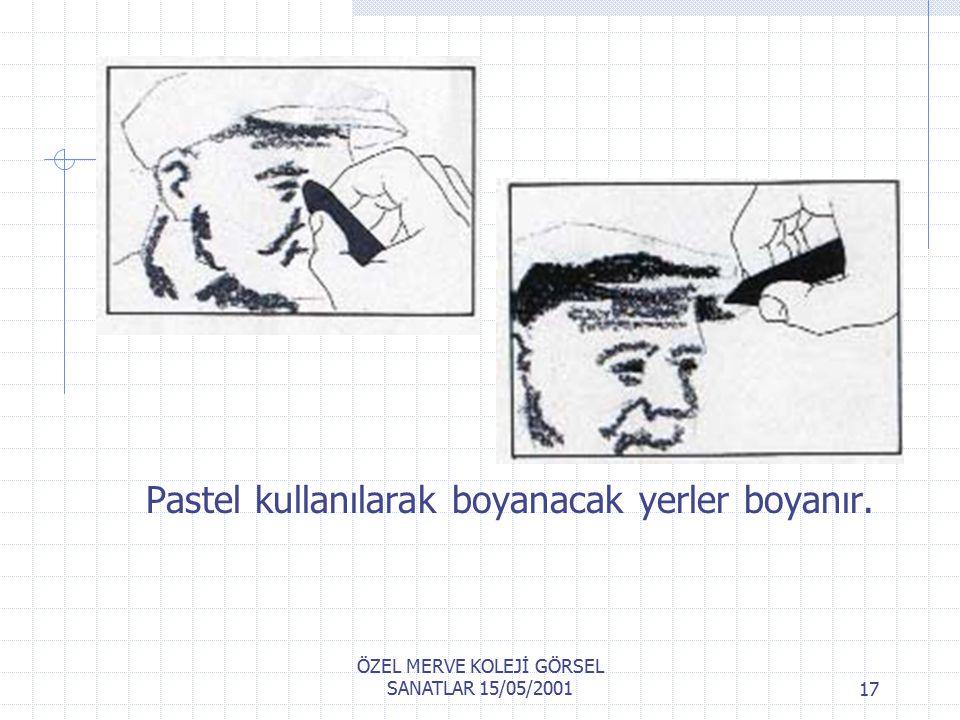 ÖZEL MERVE KOLEJİ GÖRSEL SANATLAR 15/05/200116 Kalınca bir kağıttan şablon çıkarın.