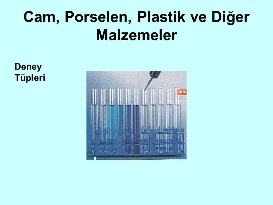 Cam, Porselen, Plastik ve Diğer Malzemeler Deney Tüpleri