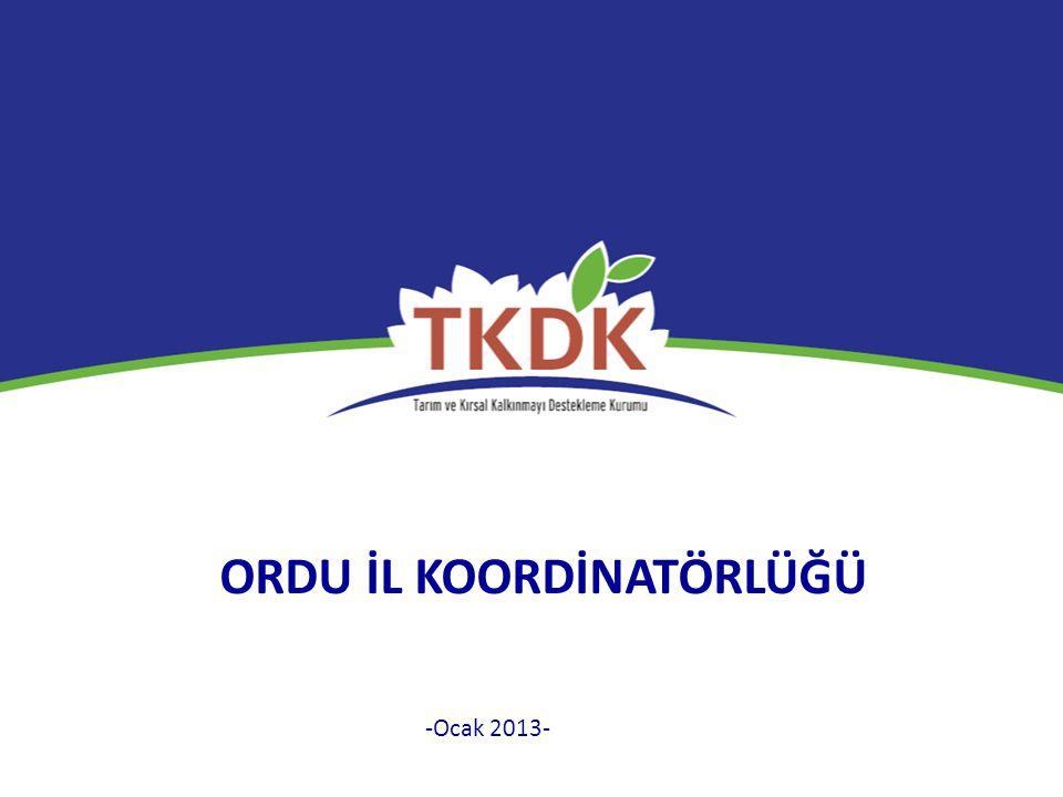 ORDU İL KOORDİNATÖRLÜĞÜ -Ocak 2013-
