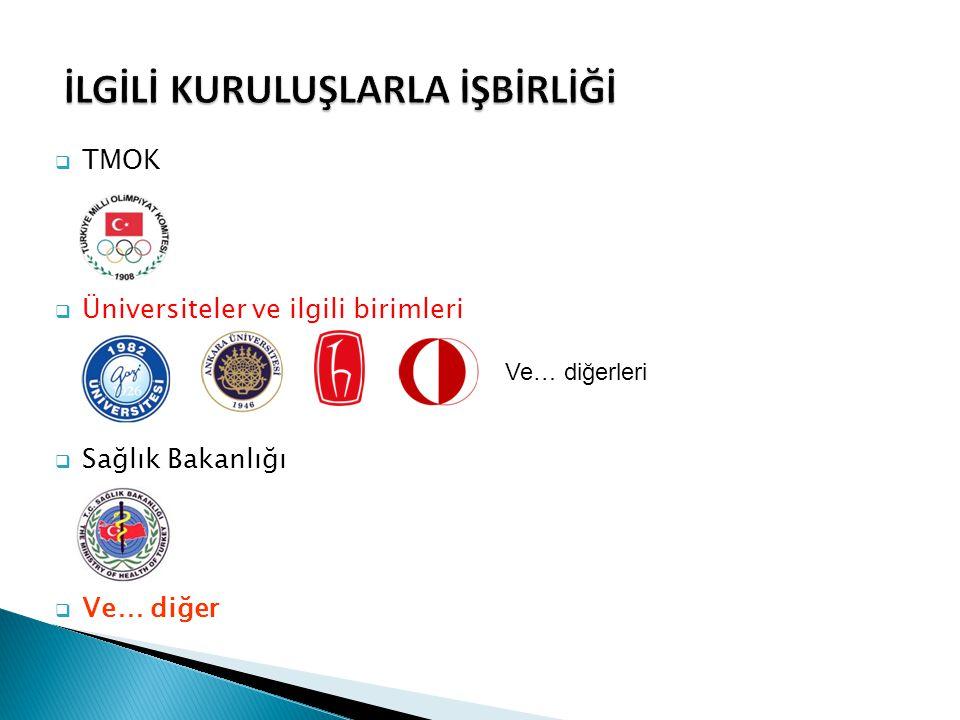  TMOK  Üniversiteler ve ilgili birimleri  Sağlık Bakanlığı  Ve… diğer Ve… diğerleri
