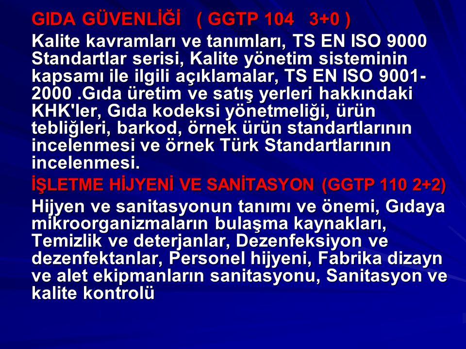 GIDA GÜVENLİĞİ ( GGTP 104 3+0 ) Kalite kavramları ve tanımları, TS EN ISO 9000 Standartlar serisi, Kalite yönetim sisteminin kapsamı ile ilgili açıkla