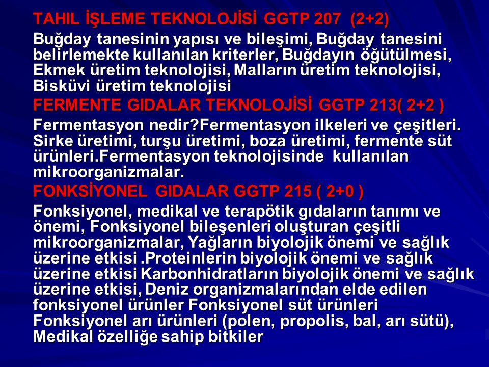 TAHIL İŞLEME TEKNOLOJİSİ GGTP 207 (2+2) Buğday tanesinin yapısı ve bileşimi, Buğday tanesini belirlemekte kullanılan kriterler, Buğdayın öğütülmesi, E