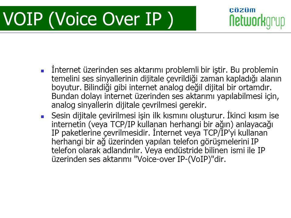 VOIP (Voice Over IP ) İnternet üzerinden ses aktarımı problemli bir iştir. Bu problemin temelini ses sinyallerinin dijitale çevrildiği zaman kapladığı