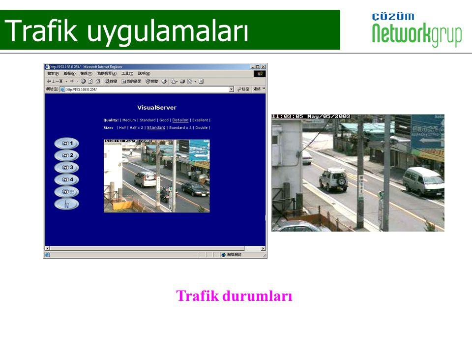 Trafik uygulamaları Trafik durumları