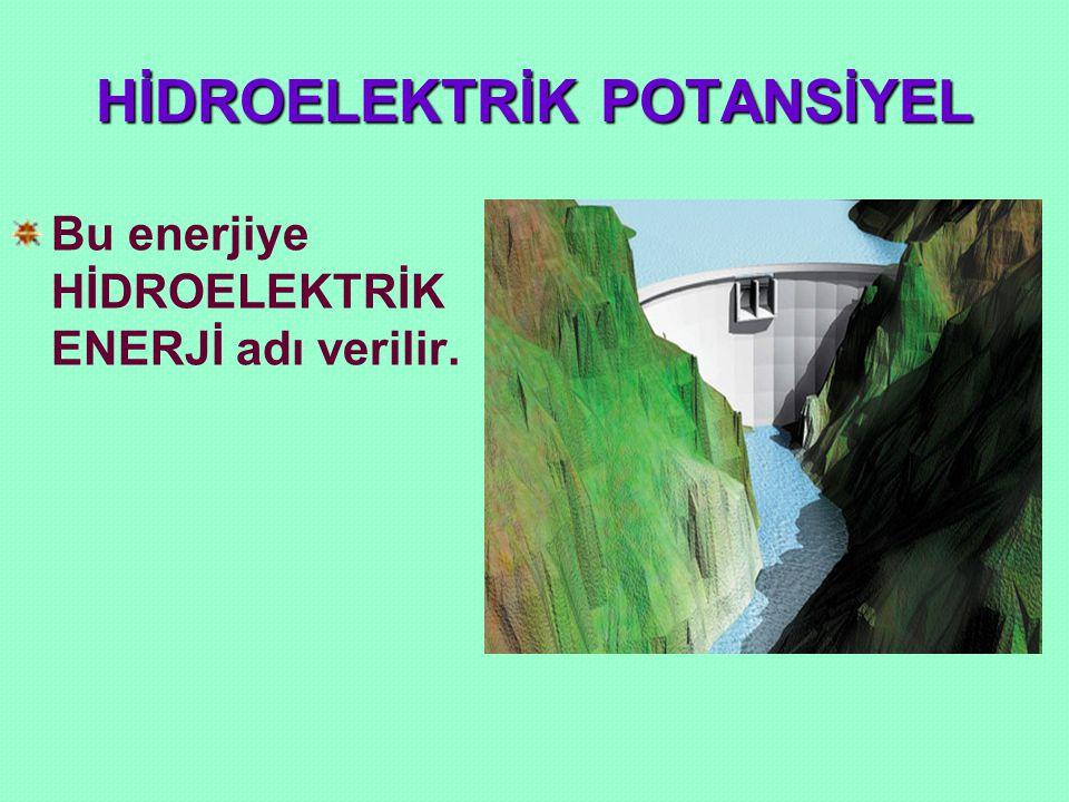 HİDROELEKTRİK POTANSİYEL Akarsulardaki bu hidroelektrik enerjilerden yararlanılarak elektrik enerjisi elde eden tesislere HİDROELEKTRİK SANTRAL(HES) adı verilir.