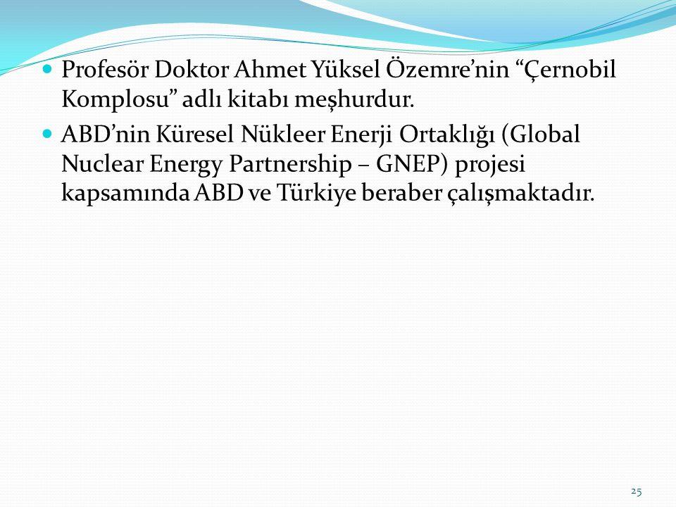 Profesör Doktor Ahmet Yüksel Özemre'nin Çernobil Komplosu adlı kitabı meşhurdur.