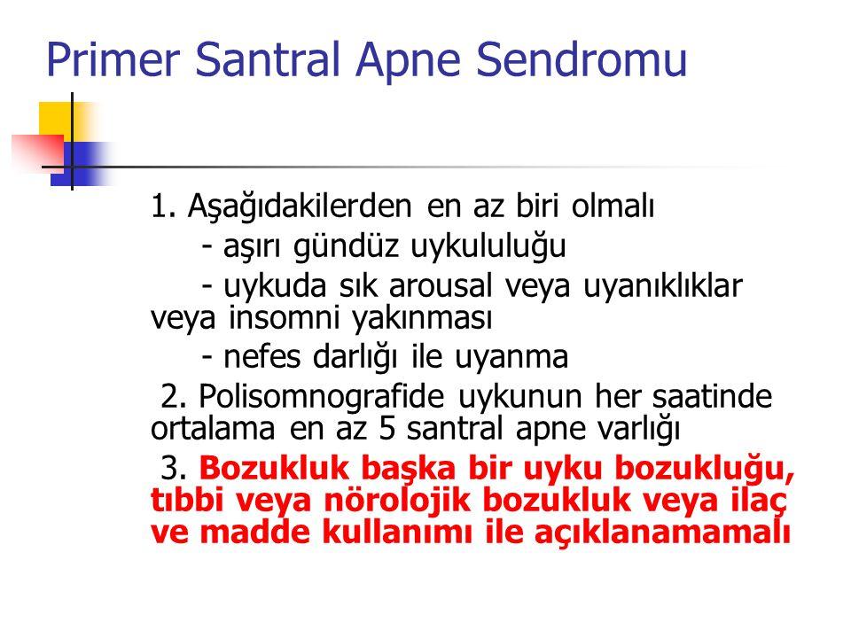 Primer Santral Apne Sendromu 1.