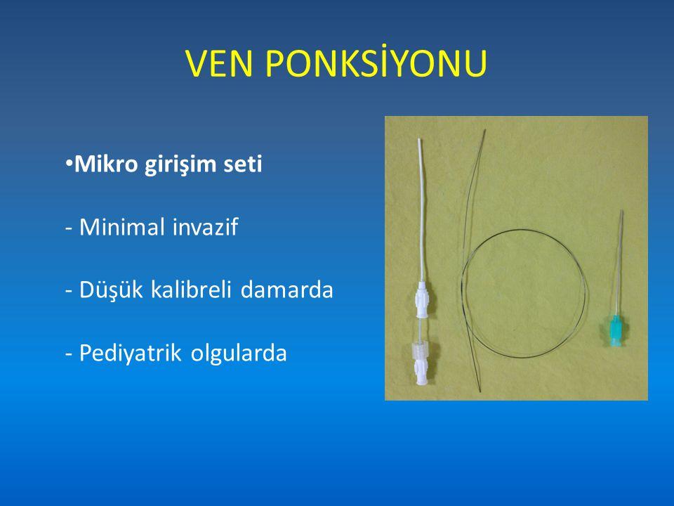 VEN PONKSİYONU Mikro girişim seti - Minimal invazif - Düşük kalibreli damarda - Pediyatrik olgularda