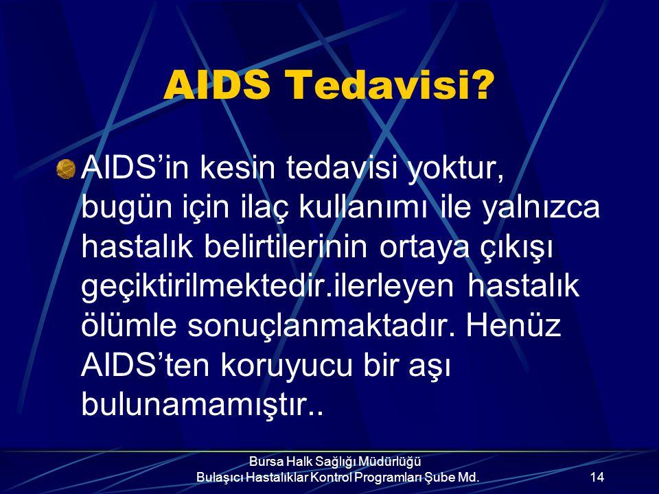 Bursa Halk Sağlığı Müdürlüğü Bulaşıcı Hastalıklar Kontrol Programları Şube Md.13 Ancak; Bütün bu belirtiler basit bir hastalık nedeni olabilir...