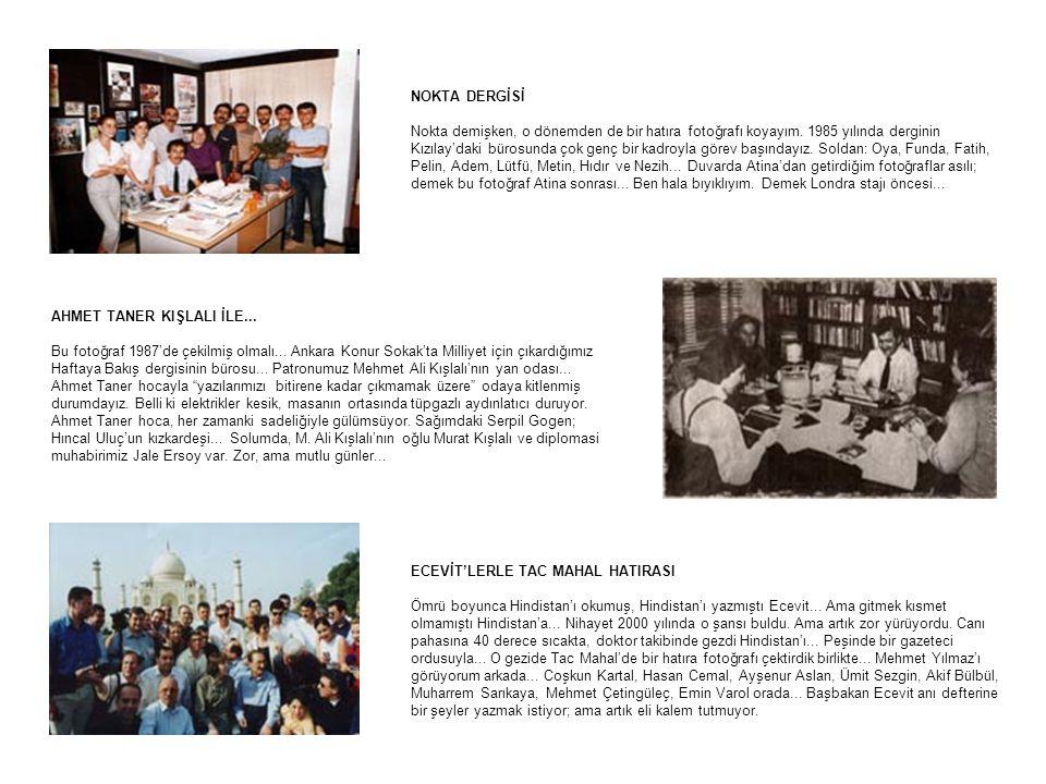 NOKTA DERGİSİ Nokta demişken, o dönemden de bir hatıra fotoğrafı koyayım. 1985 yılında derginin Kızılay'daki bürosunda çok genç bir kadroyla görev baş