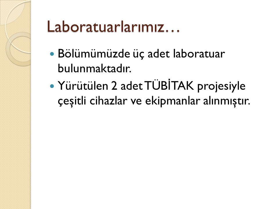 Laboratuarlarımız… Bölümümüzde üç adet laboratuar bulunmaktadır.
