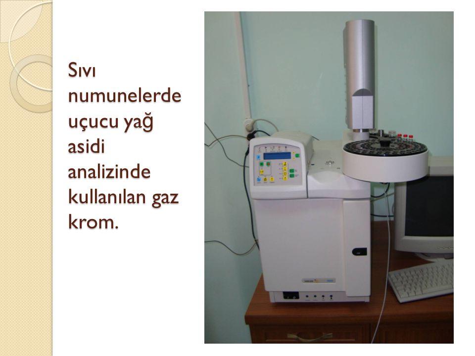 Sıvı numunelerde uçucu ya ğ asidi analizinde kullanılan gaz krom.