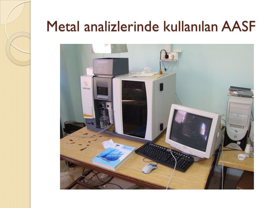 Metal analizlerinde kullanılan AASF