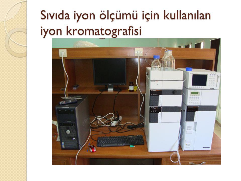 Sıvıda iyon ölçümü için kullanılan iyon kromatografisi