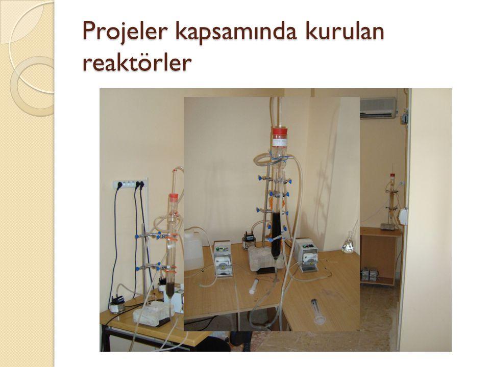 Projeler kapsamında kurulan reaktörler