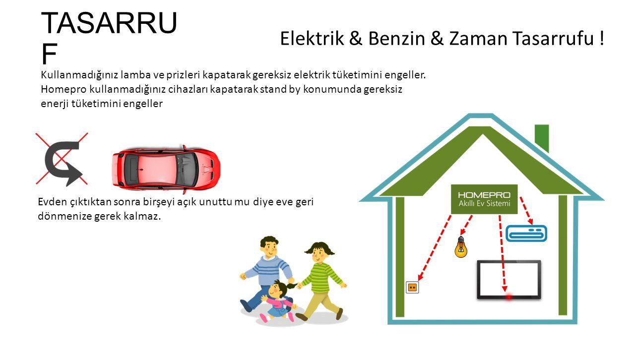 TASARRU F Kullanmadığınız lamba ve prizleri kapatarak gereksiz elektrik tüketimini engeller.