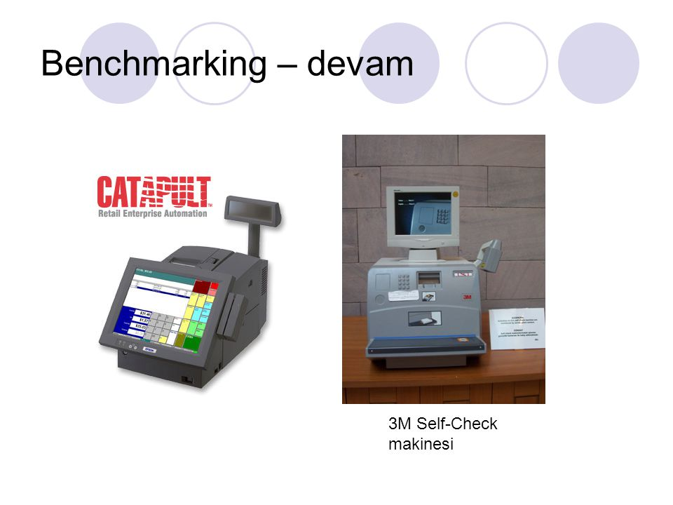 Benchmarking – devam 3M Self-Check makinesi