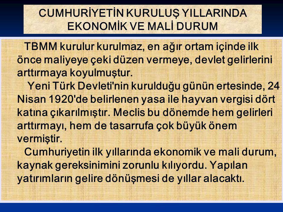 EKONOMİ ALANINDA BAĞIMSIZLIK İLKESİNİN GERÇEKLEŞTİRİLMESİ Ekonomik bağımsızlık ilkesinin bir sonucu olarak 1926 da çıkarılan bir yasa ile Kabotaj Kanunu Türk karasularında yalnız Türk gemilerinin yolcu ve yük taşıyabileceği kabul edildi.