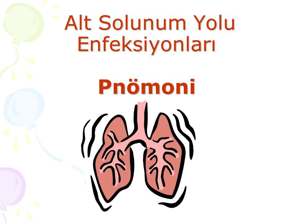 Alt Solunum Yolu Enfeksiyonları Pnömoni Alt Solunum Yolu Enfeksiyonları Pnömoni