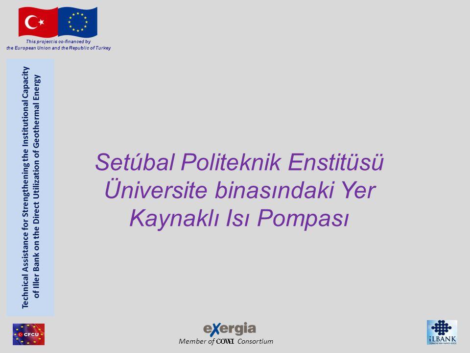 Member of Consortium This project is co-financed by the European Union and the Republic of Turkey Setúbal Politeknik Enstitüsü Üniversite binasındaki Yer Kaynaklı Isı Pompası
