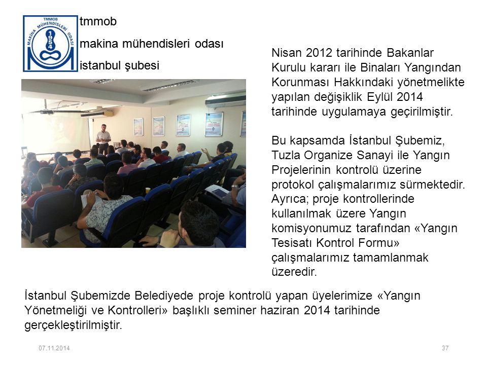 tmmob makina mühendisleri odası istanbul şubesi tmmob makina mühendisleri odası istanbul şubesi Nisan 2012 tarihinde Bakanlar Kurulu kararı ile Binala