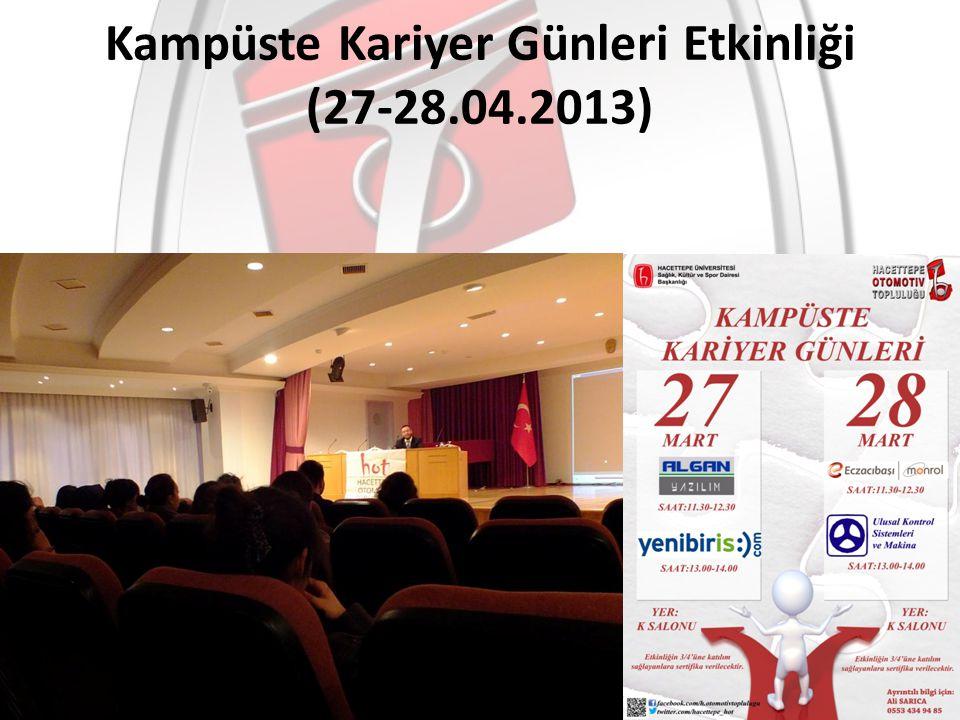 Kampüste Kariyer Günleri Etkinliği (27-28.04.2013)