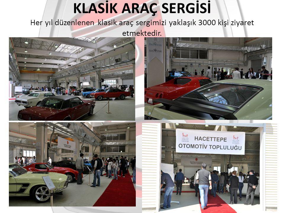 KLASİK ARAÇ SERGİSİ Her yıl düzenlenen klasik araç sergimizi yaklaşık 3000 kişi ziyaret etmektedir.
