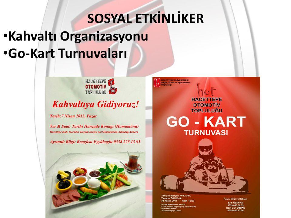 SOSYAL ETKİNLİKER Kahvaltı Organizasyonu Go-Kart Turnuvaları