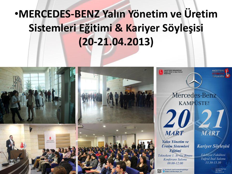 MERCEDES-BENZ Yalın Yönetim ve Üretim Sistemleri Eğitimi & Kariyer Söyleşisi (20-21.04.2013)