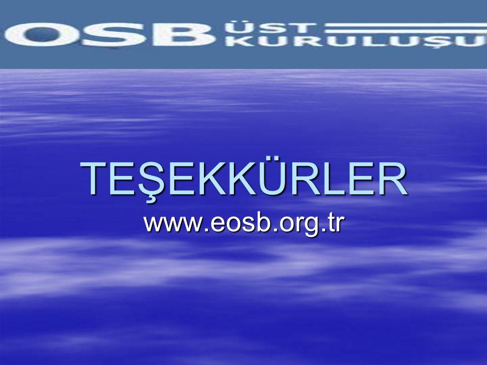 TEŞEKKÜRLER www.eosb.org.tr