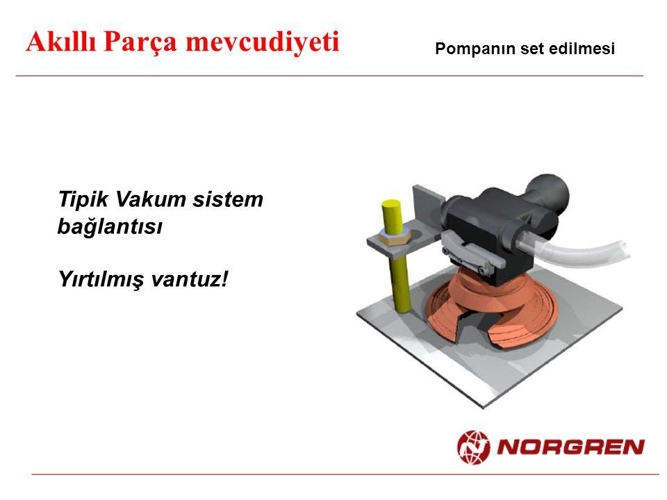 Akıllı Parça mevcudiyeti Pompanın set edilmesi Tipik Vakum sistem bağlantısı Yırtılmış vantuz!