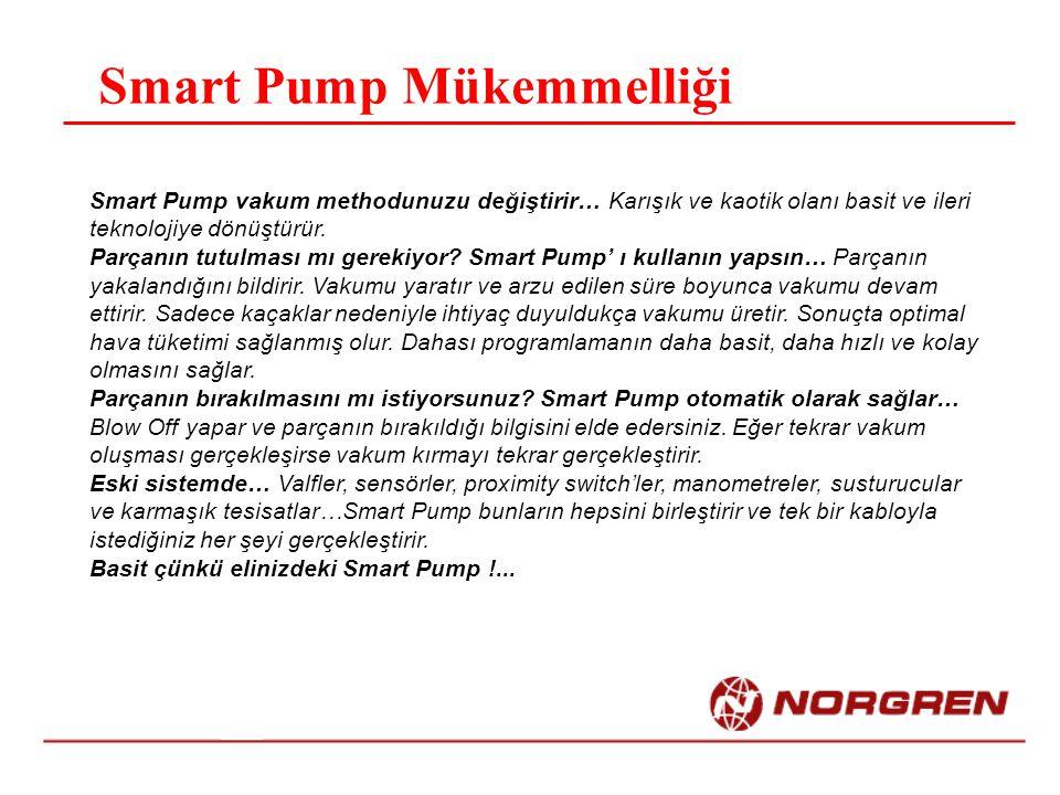 Smart Pump Mükemmelliği Smart Pump vakum methodunuzu değiştirir… Karışık ve kaotik olanı basit ve ileri teknolojiye dönüştürür. Parçanın tutulması mı