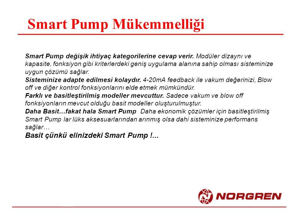 Smart Pump Mükemmelliği Smart Pump değişik ihtiyaç kategorilerine cevap verir.