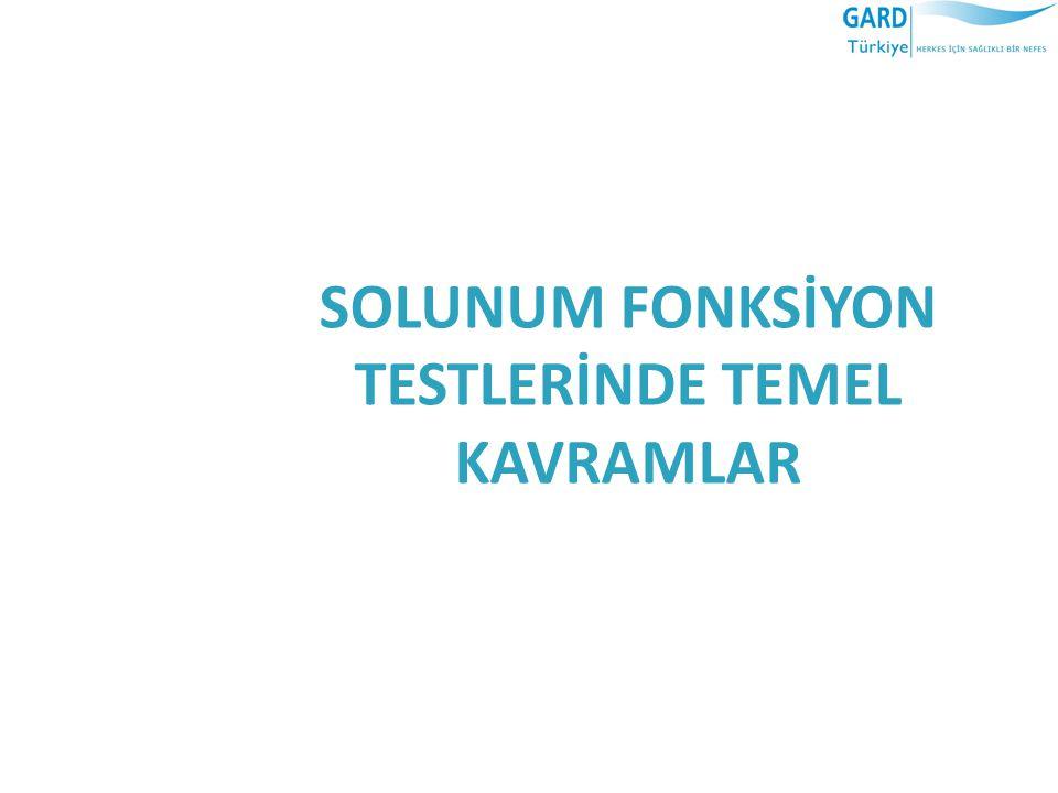 SOLUNUM FONKSİYON TESTLERİNDE TEMEL KAVRAMLAR