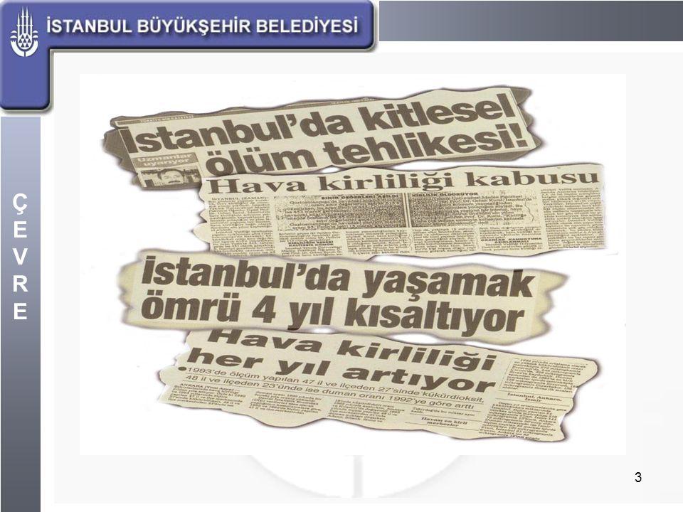 ÇEVREÇEVRE 4 İstanbul Bölge Hıfzıssıhha Müdürlüğü Ölçümleri 1995 yılına kadar İstanbul'da hava kalitesi ölçümleri, yalnızca İstanbul Bölge Hıfzıssıhha Müdürlüğü tarafından SO2 ve Partikül madde olarak yapılmaktaydı.
