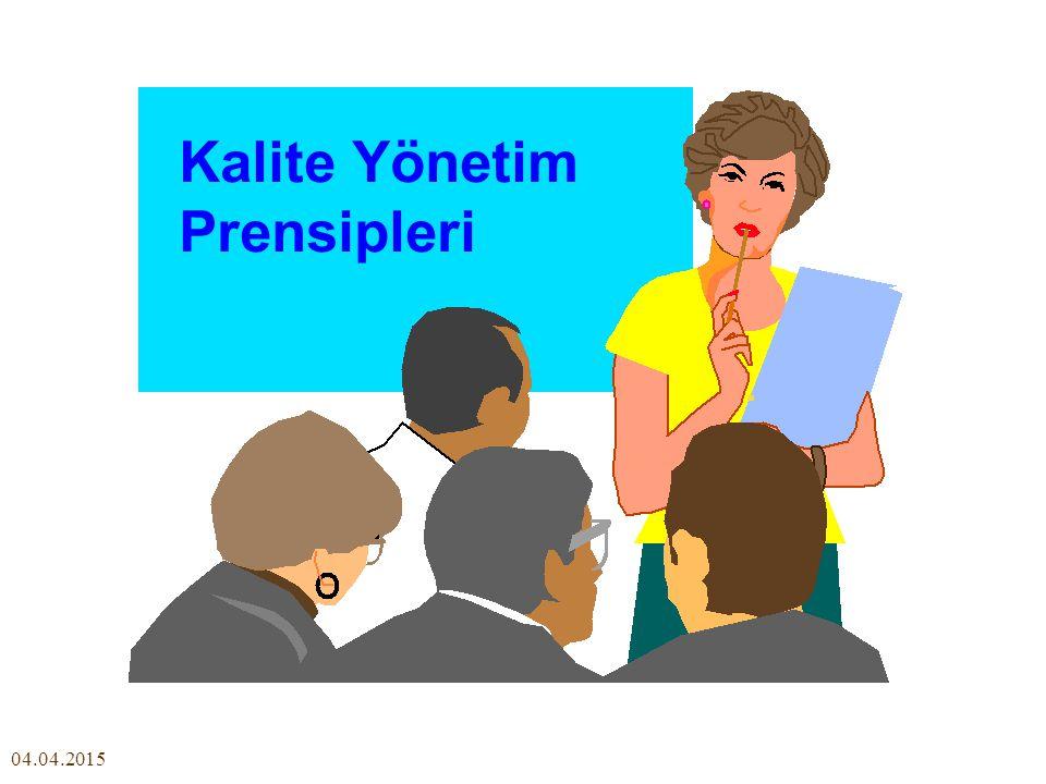 04.04.2015 Kalite Yönetim Prensipleri