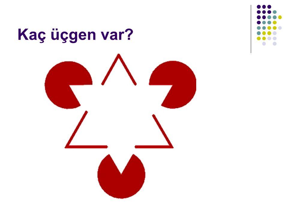 Kaç üçgen var?