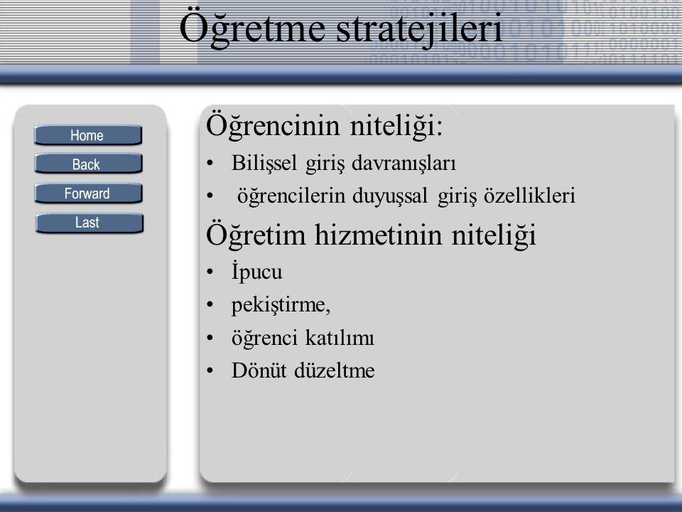 Türkçe dersi için önerilen araçlar IV.ve V.