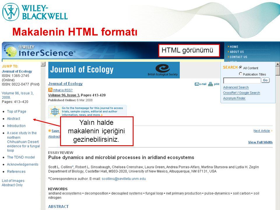 www.interscience.wiley.com Makalenin HTML formatı Yalın halde makalenin içeriğini gezinebilirsiniz.