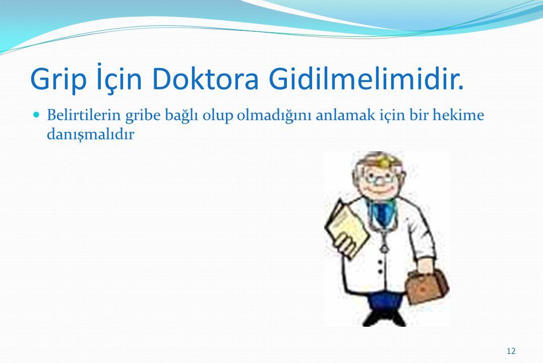 Grip İçin Doktora Gidilmelimidir. Belirtilerin gribe bağlı olup olmadığını anlamak için bir hekime danışmalıdır 12