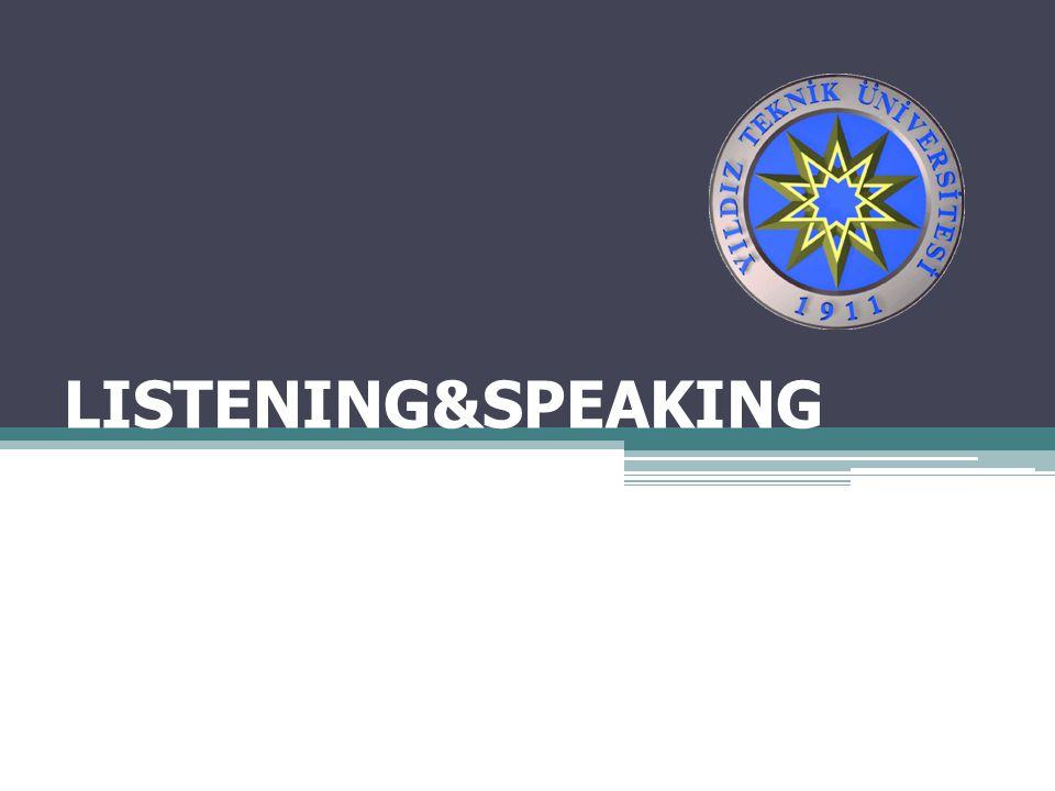 LISTENING&SPEAKING