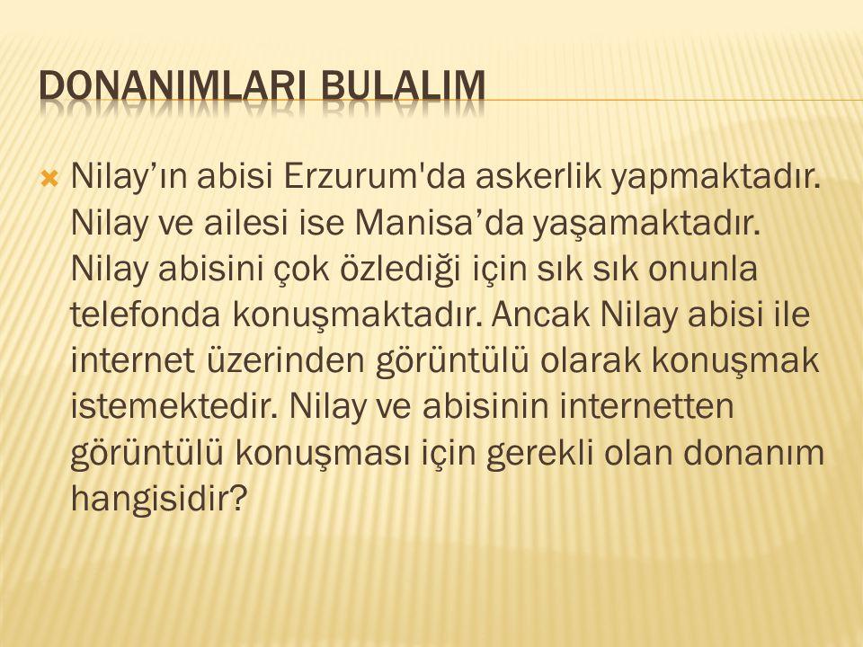  Nilay'ın abisi Erzurum'da askerlik yapmaktadır. Nilay ve ailesi ise Manisa'da yaşamaktadır. Nilay abisini çok özlediği için sık sık onunla telefonda